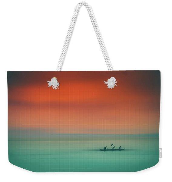 Dusk On The Lake Weekender Tote Bag