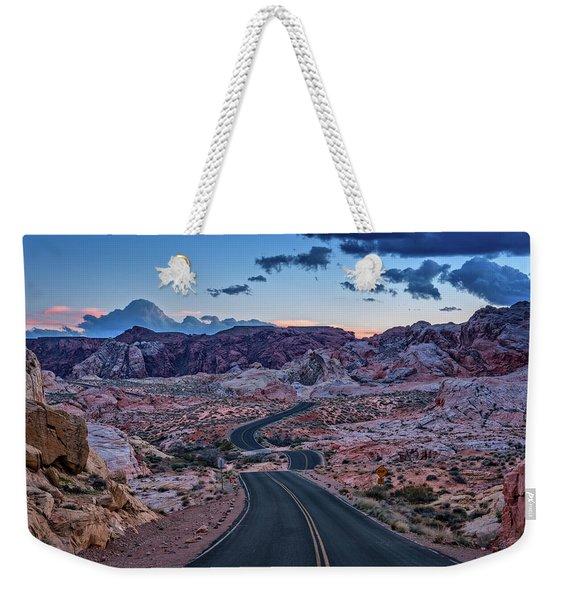 Dusk On The Open Road Weekender Tote Bag