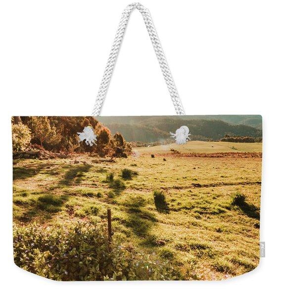 Dusky Fields Weekender Tote Bag
