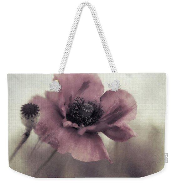 Dusty Pink Poppy Weekender Tote Bag