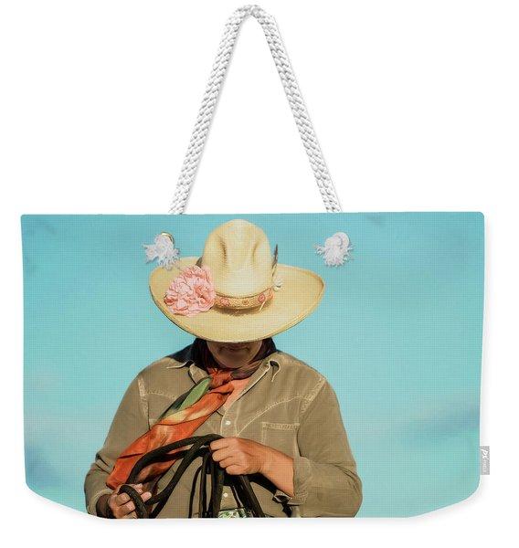 Dusty Rose Weekender Tote Bag