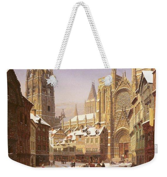 Dutch Cathedral Town Weekender Tote Bag