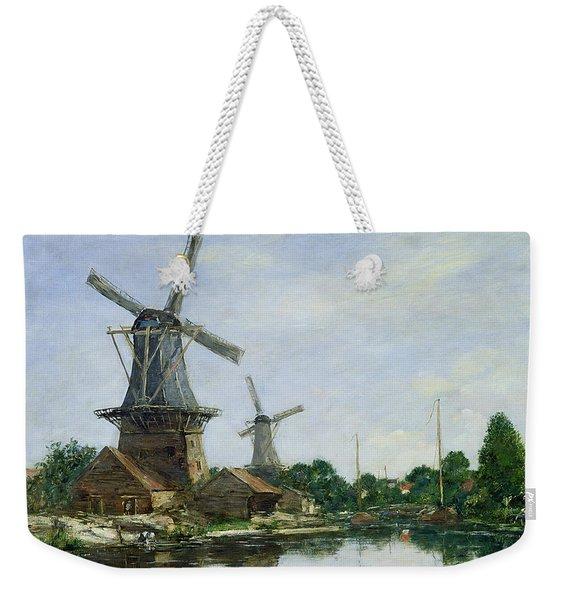 Dutch Windmills Weekender Tote Bag