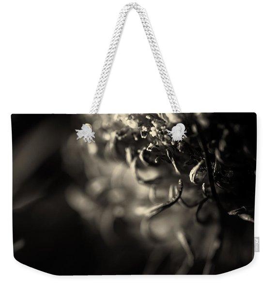 Faded Chrysanthemum Flower Abstract Print Weekender Tote Bag