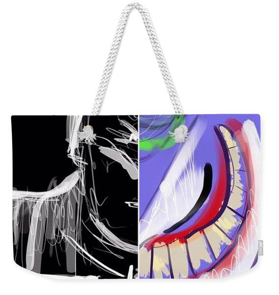 Dynamic Duet Weekender Tote Bag