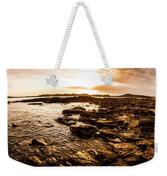 Dynamic Ocean Panoramic Weekender Tote Bag