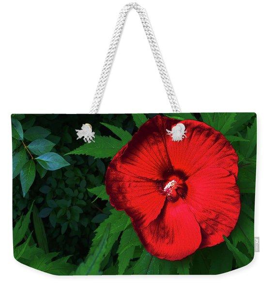 Dynamic Red Weekender Tote Bag