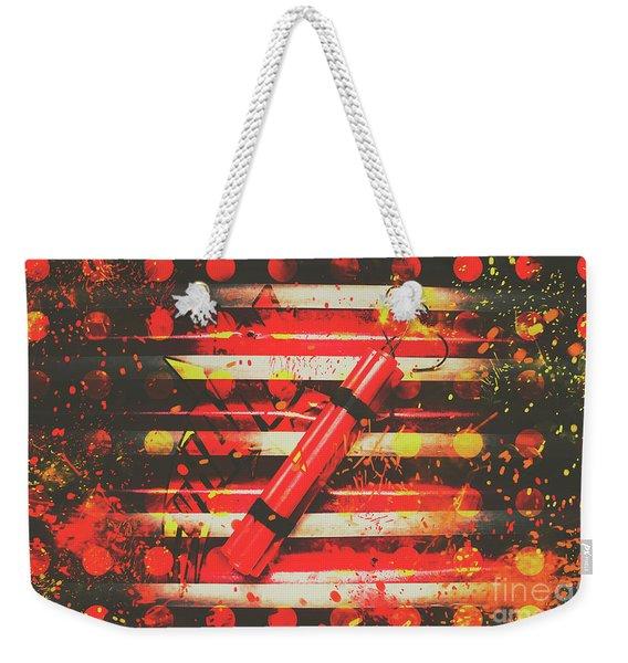 Dynamite Artwork Weekender Tote Bag
