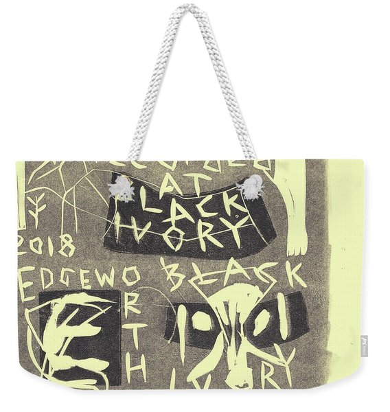 E Cd Grey Weekender Tote Bag