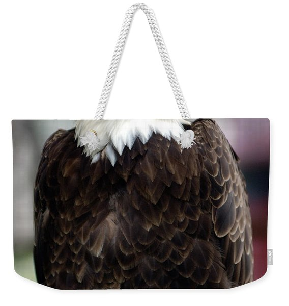 Weekender Tote Bag featuring the photograph Eagle by Doug Gibbons