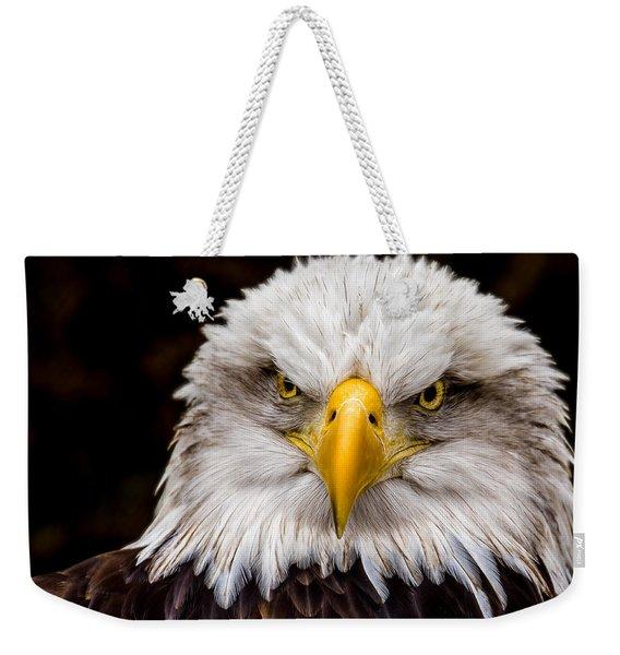 Defiant And Resolute - Bald Eagle Weekender Tote Bag
