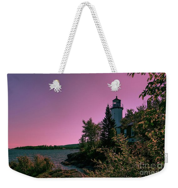 Eagle Harbor Fading Light Weekender Tote Bag