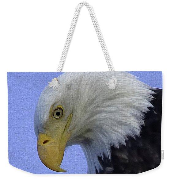 Eagle Head Paint Weekender Tote Bag