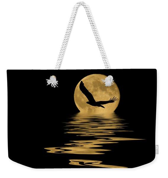 Eagle In The Moonlight Weekender Tote Bag