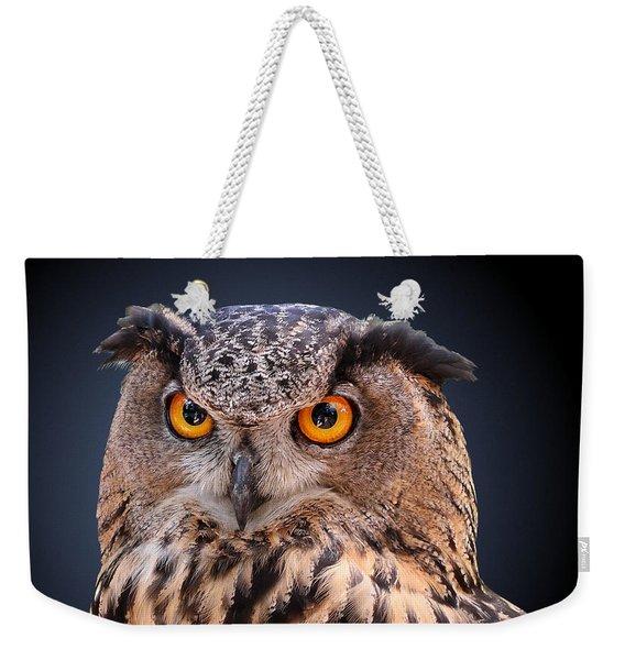 Eagle Owl Weekender Tote Bag