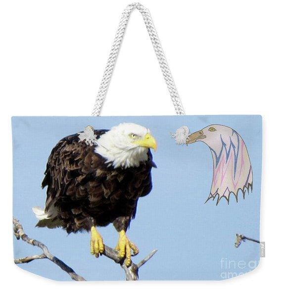 Eagle Reflection Weekender Tote Bag