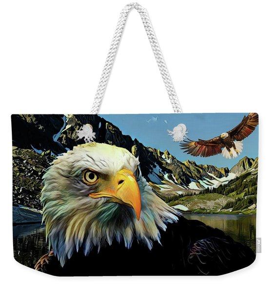 Eagles Lake Weekender Tote Bag