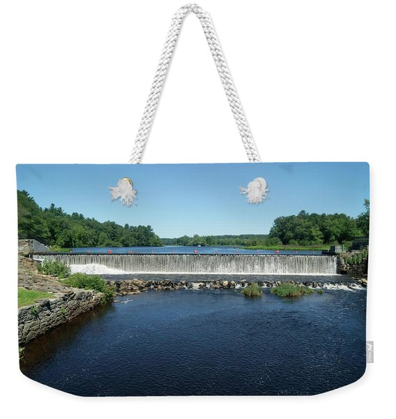 Eagleville Dam, Connecticut  Weekender Tote Bag