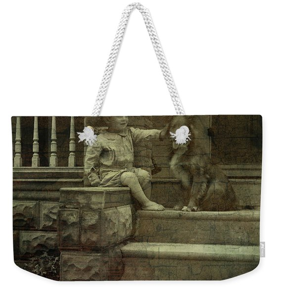 Ear Scratch And Straw Hat Weekender Tote Bag