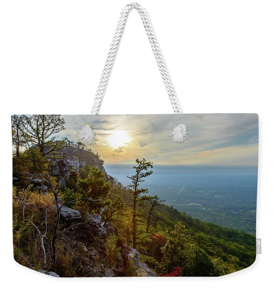 Early Autumn On Pilot Mountain Weekender Tote Bag