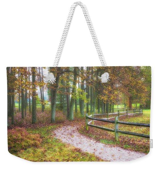 Early Autumn Stroll Weekender Tote Bag