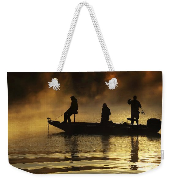 Early Casting Call Weekender Tote Bag
