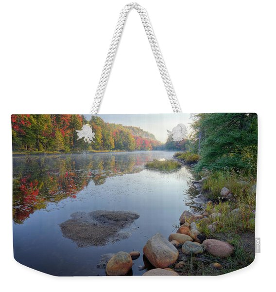 Early Color On Bald Mountain Pond Weekender Tote Bag
