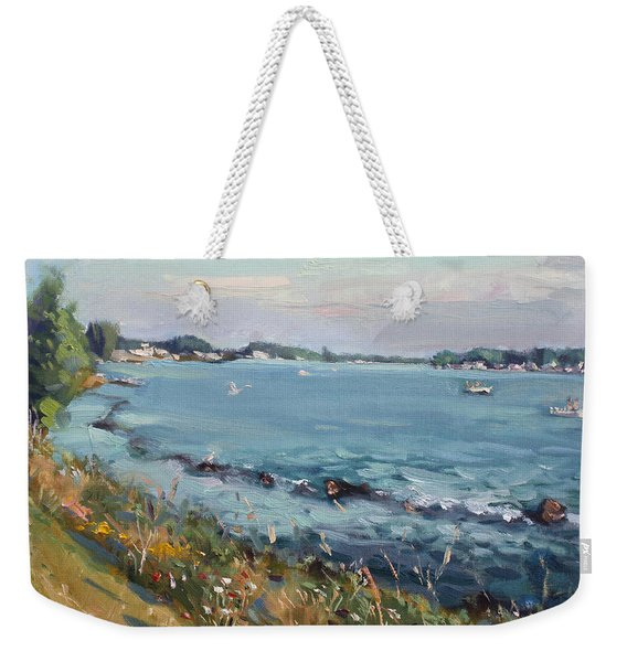 Early Evening At Gratwick Waterfront Park Weekender Tote Bag