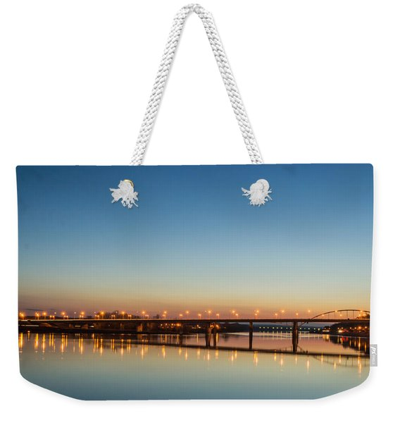 Early Evening Bridge At Sunset Weekender Tote Bag