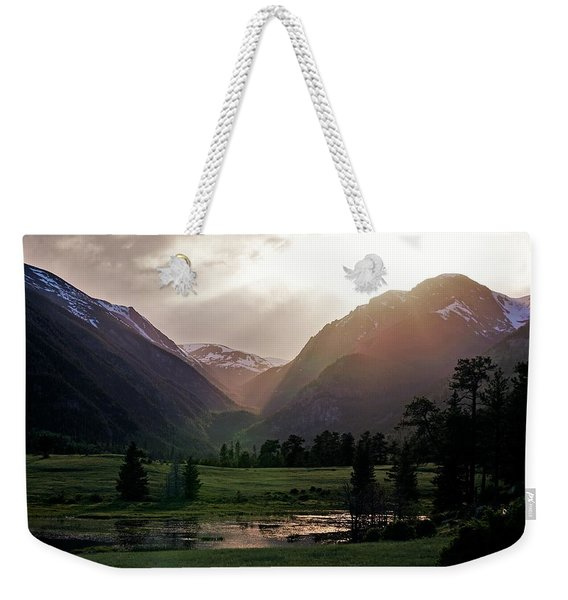 Early Evening Light In The Valley Weekender Tote Bag