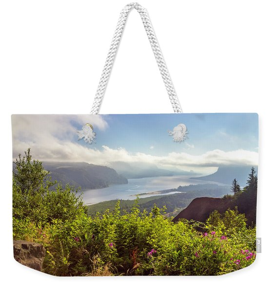 Early In Morning At Crown Point Oregon. Weekender Tote Bag