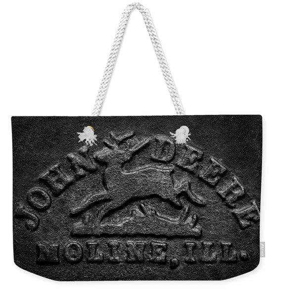 Early John Deere Emblem Weekender Tote Bag