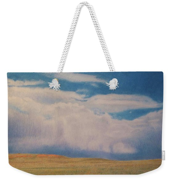 Weekender Tote Bag featuring the drawing Early May by Cris Fulton