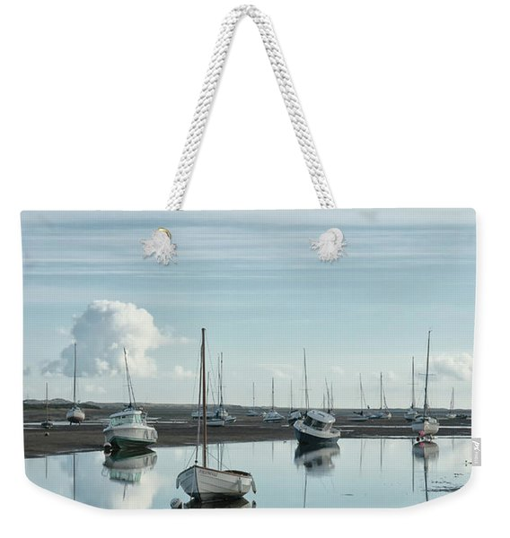 Early Morning At Brancaster Staithe Norfolk Uk Weekender Tote Bag