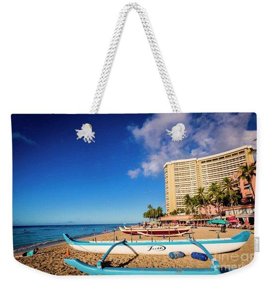 Early Morning At Outrigger Beach,hawaii Weekender Tote Bag