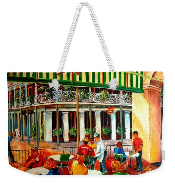 Early Morning At The Cafe Du Monde Weekender Tote Bag