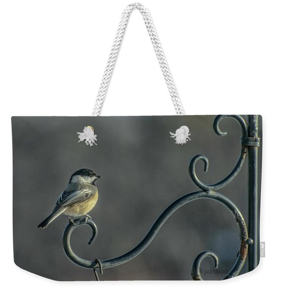 Early Morning At The Feeder Weekender Tote Bag