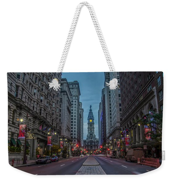 Early Morning Broad Street Weekender Tote Bag