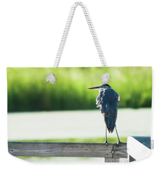 Early Morning Great Blue Heron Weekender Tote Bag
