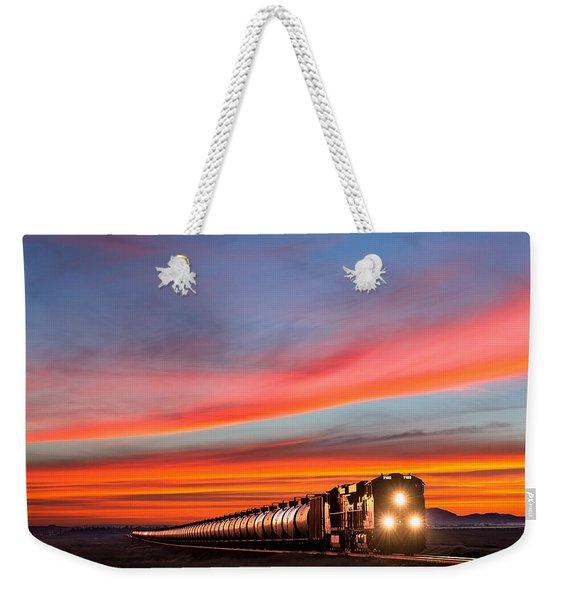Early Morning Haul Weekender Tote Bag