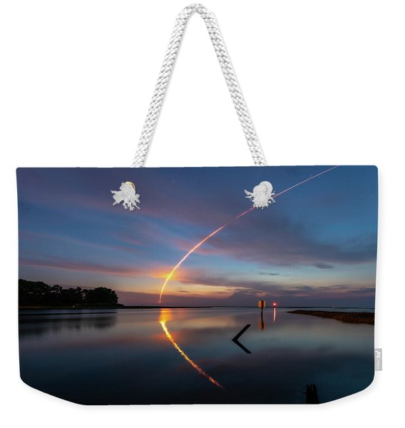 Early Morning Launch Weekender Tote Bag