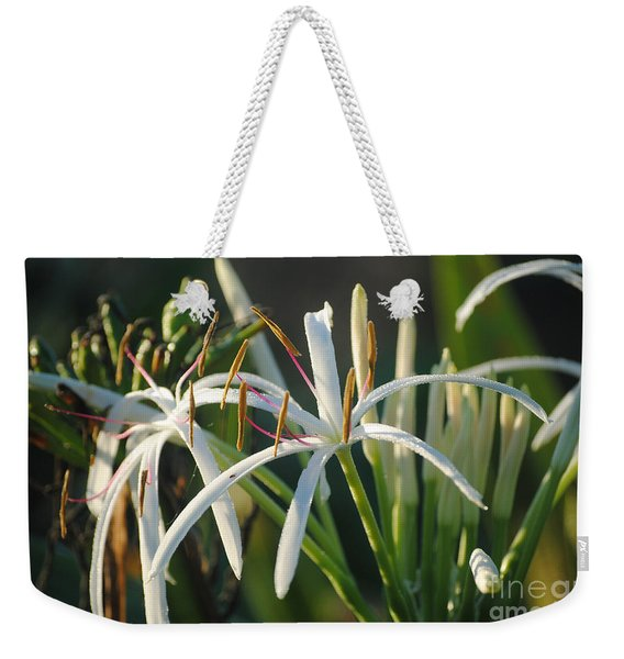 Early Morning Lily Weekender Tote Bag