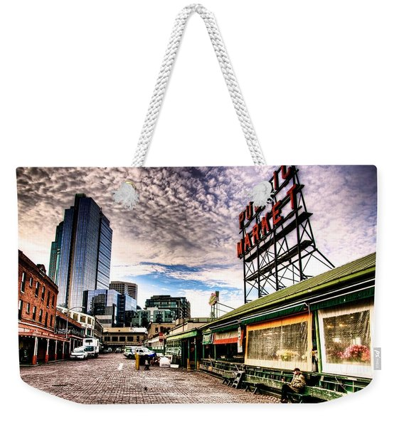 Early Morning Market Weekender Tote Bag