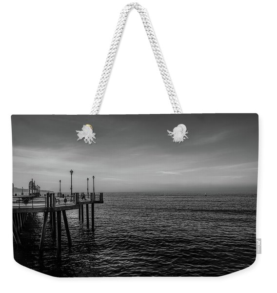 Weekender Tote Bag featuring the photograph Early Morning Redondo By Mike-hope by Michael Hope