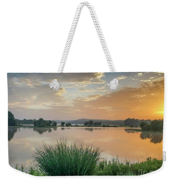 Early Morning Sunrise On The Lake Weekender Tote Bag