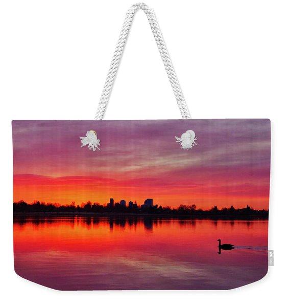 Early Morning Swim Weekender Tote Bag