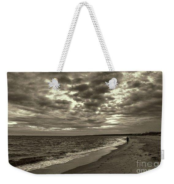 Early Morning Walk On Virginia Beach Weekender Tote Bag