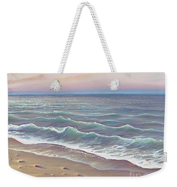 Early Morning Waves Weekender Tote Bag
