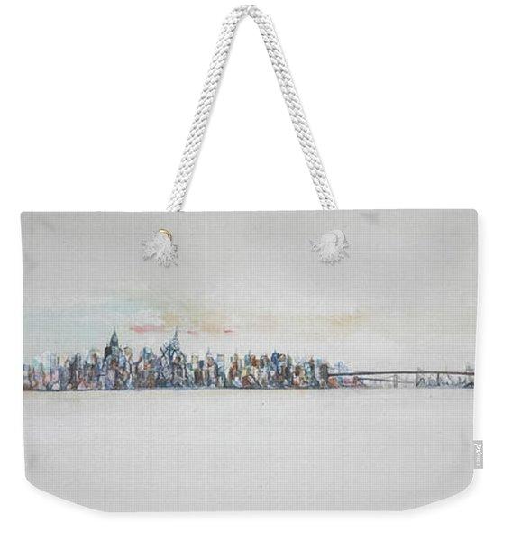 Early Skyline Weekender Tote Bag