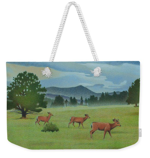 Early Spring Evergreen Weekender Tote Bag